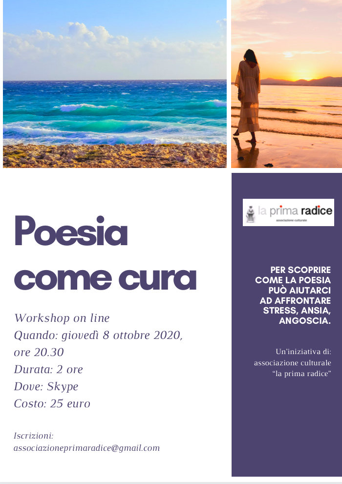 Workshop on line: poesia come cura